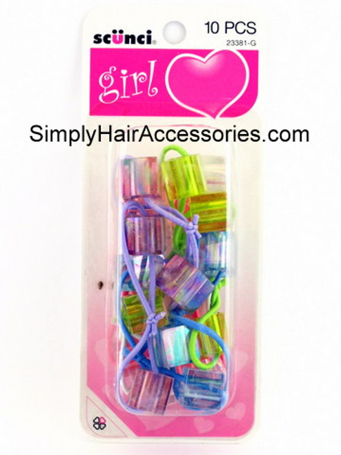 Scunci Girl Twinbead Ponytailers - 10 Pcs.