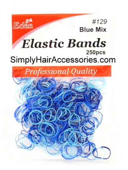 Eden Blue Polyband Hair Elastics -  250 Pcs.