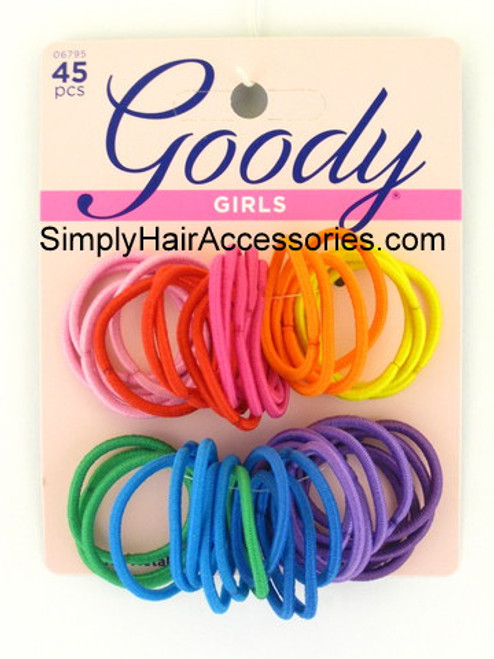 Goody Girls Ouchless 2mm Hair Elastics - 45 Pcs.