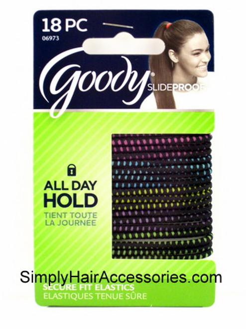 Goody SlideProof 3mm Hair Elastics - 18 Pcs.