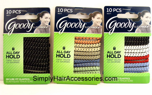 Goody Slideproof 5mm Hair Elastics - 10 Pcs.