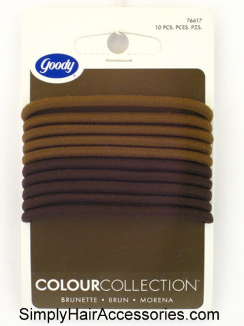 Goody Colour Collection Brunette Hair Elastics  - 10 Pcs.