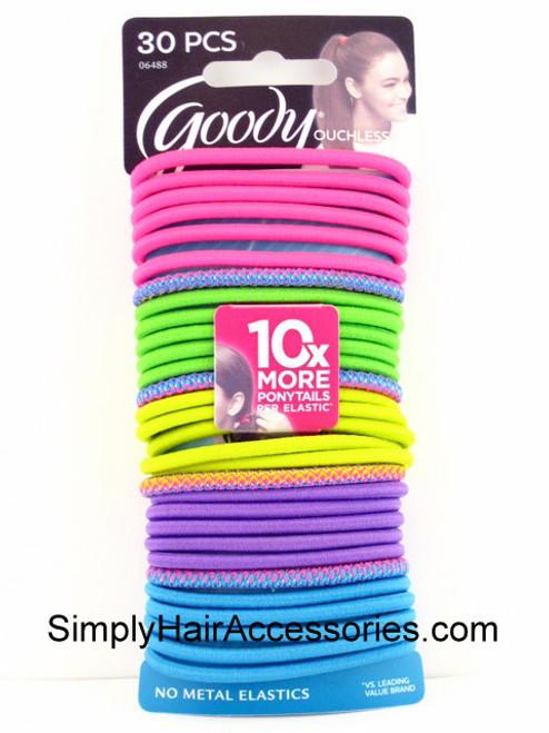 Goody Ouchless 4mm Hair Elastics - 30 Pcs.