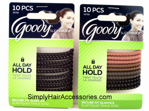 Goody Slideproof 4mm Hair Elastics - 10 Pcs.