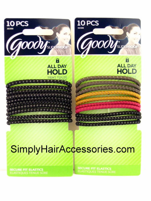 Goody Slideproof 4mm Hair Elastics - 10 Pcs