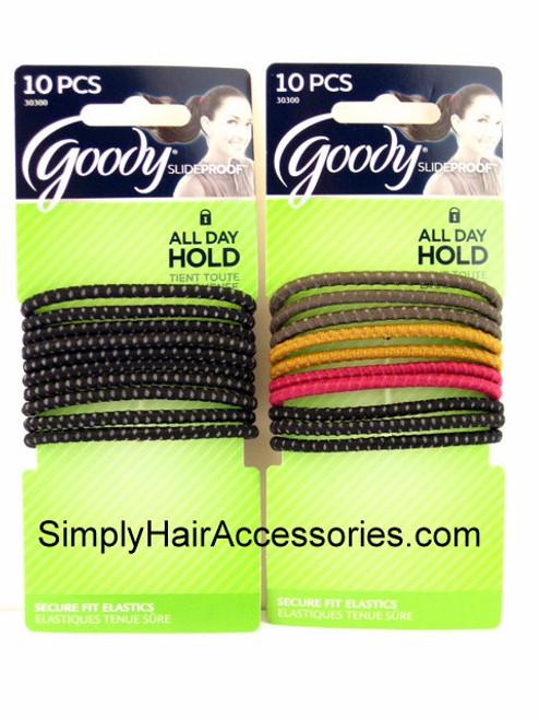 Goody Slideproof 4mm Hair Elastics - 10 Pcs