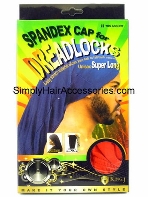King.J Super Long Unisex Spandex Cap For Dreadlocks