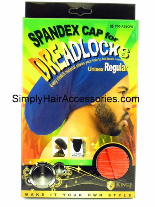 King.J Regular Size Unisex Spandex Cap For Dreadlocks