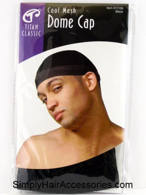 Titan Classic Cool Mesh Dome Cap - Black