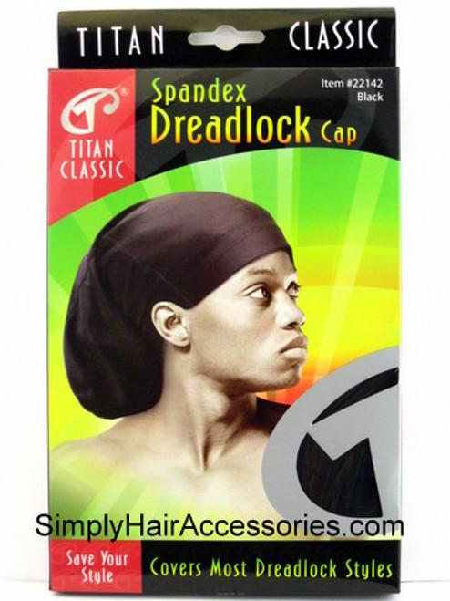 Titan Classic Spandex Dreadlock Cap - Black