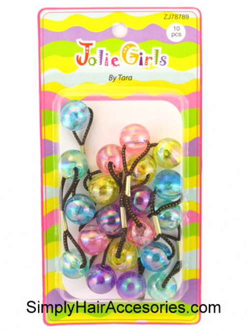Jolie Girl By Tara Twinbead Ponytail Holders - 10 Pcs.