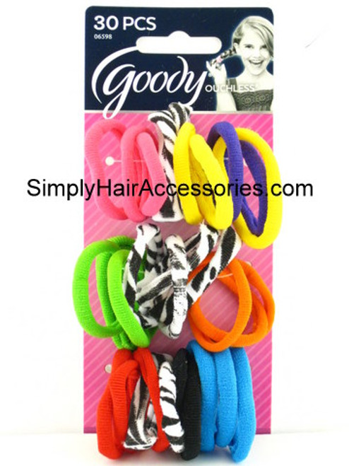 Goody Girls Ouchless Patterned Pony O's - 30 Pcs.