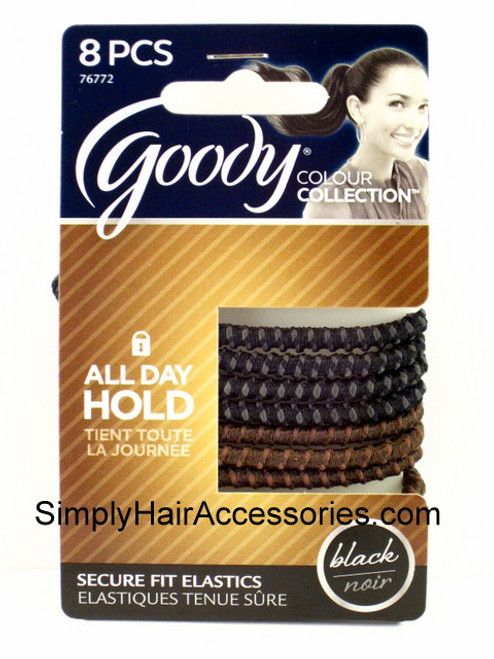 Goody Colour Collection Stayput Silicone Hair Elastics - 8 Pcs