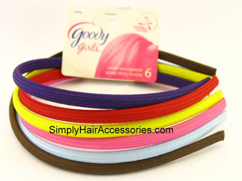 Goody Girls Giddy Shoestring Fabric Head Bands - 6 Pcs.