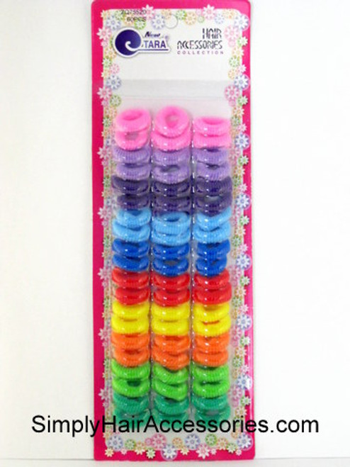 Tara Small Terry Assorted Ponytailers - 60 Pcs.