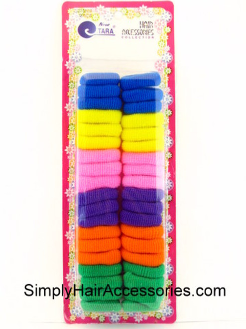 Tara Large Assorted Terry Ponytailers - 38 Pcs.