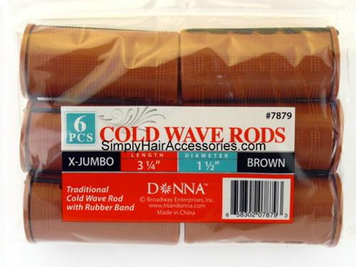 "Donna X-Jumbo 1-1/2"" Cold Wave Rods - 6 Pcs."