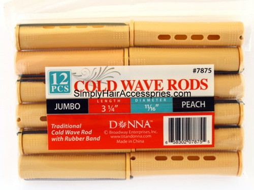 """Donna Jumbo 11/16"""" Cold Wave Rods - 12 Pcs."""