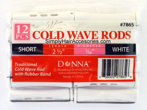"""Donna Short 7/16"""" Cold Wave Rods - 12 Pcs."""