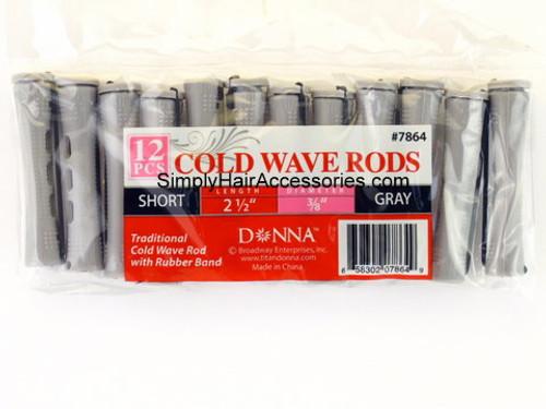 """Donna Short 3/8"""" Cold Wave Rods - 12 Pcs."""