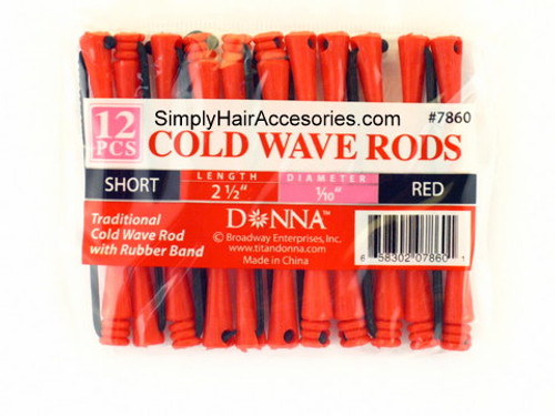 "Donna Short 1/10"" Cold Wave Rods - 12 Pcs."