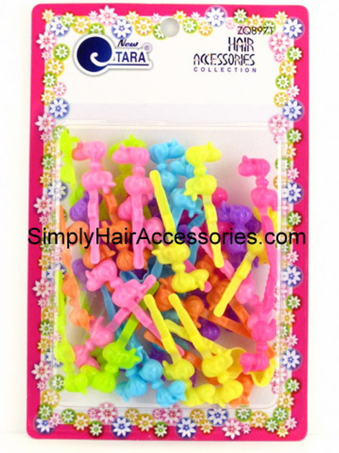 Tara Self Hinge Baby Bow Hair Barrettes - Assorted -  42 Pcs.