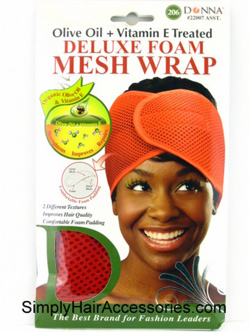 Donna Olive Oil & Vitamin E Treated Deluxe Foam Mesh Wrap