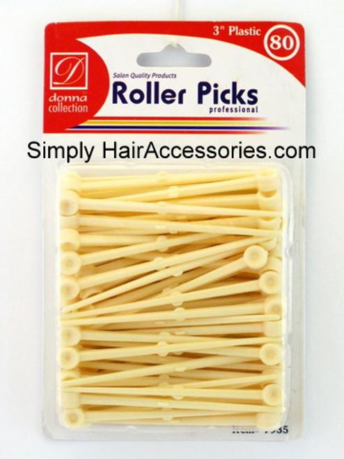 "Donna Plastic 3"" Roller Pins - 80 Pcs."