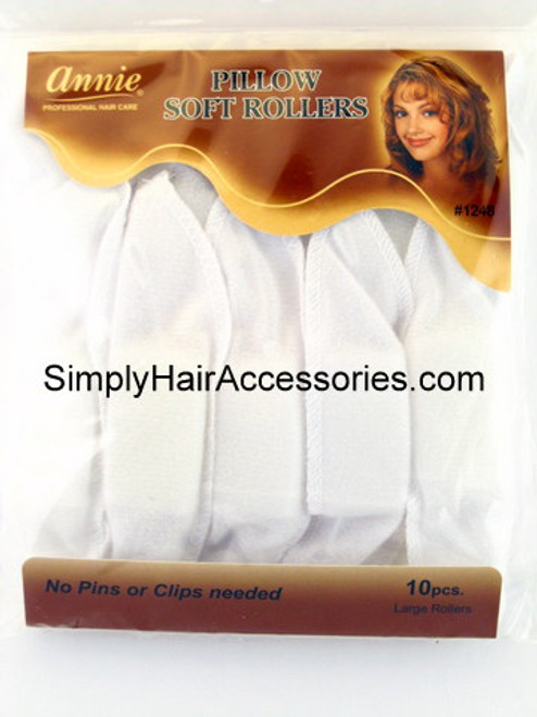 Annie white large pillowsoft hair rollers