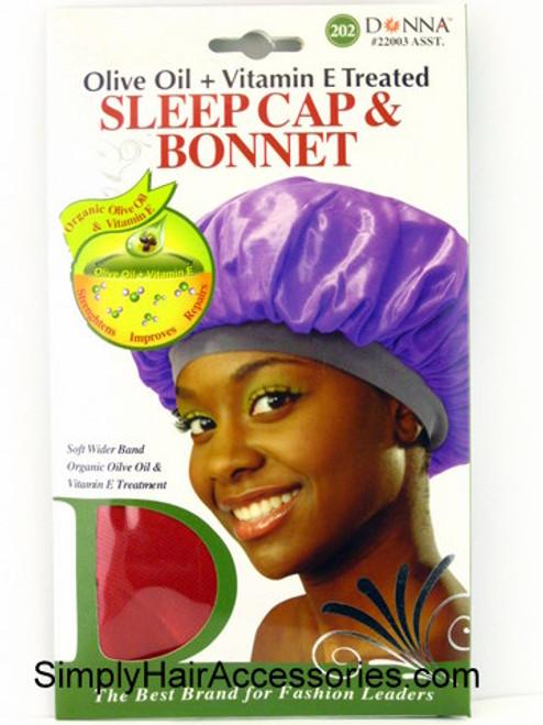 Donna Olive Oil + Vitamin E Treated Sleep Cap & Bonnet