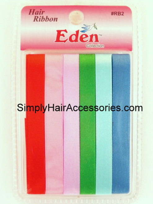 Eden Girls Assorted Hair Ribbons - 6 Pcs.