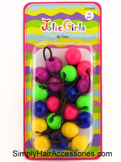 Jolie Girls Tara Twinbead Ponytail Holders  10 Pcs.