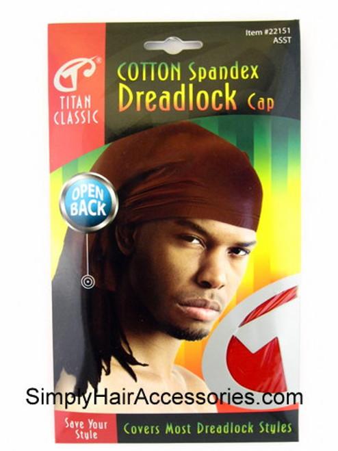 Titan Classic Open Back Cotton Spandex Dreadlock Cap