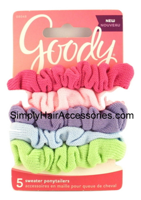 Goody Assorted Girls Sweater Ponytailers - 5 Pcs.