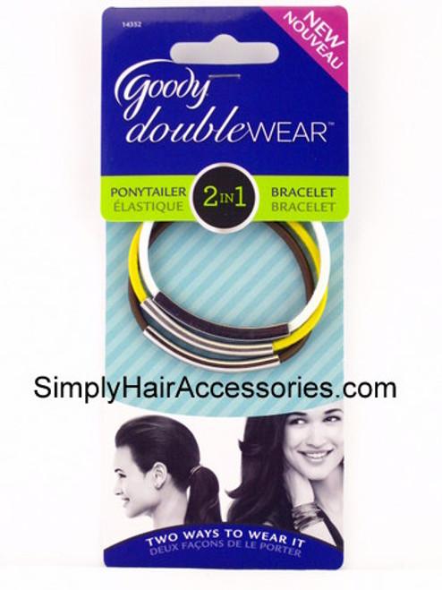 Goody Doublewear 2 In 1 Ponytailer/Bracelet -  3 Pcs.