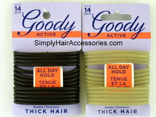 Goody Gel Ponytail Hair Elastics - 14 Pcs.