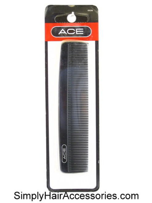 ACE Black Fine Tooth Pocket Hair Comb
