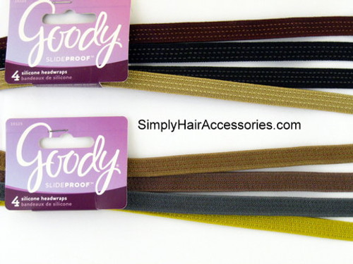 Goody Slideproof Silicone Head Bands - 4 Pcs.