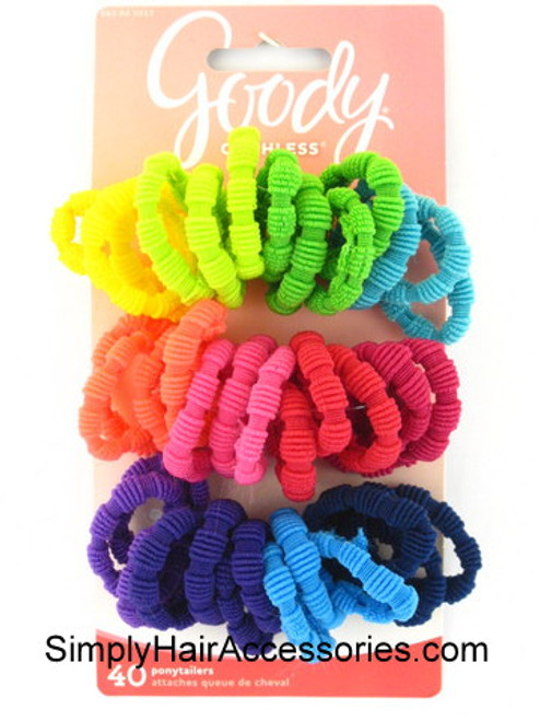 Goody Ouchless Ribbed Ponytailers - 40 Pcs.