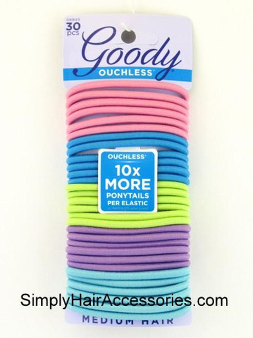 """Goody Ouchless """"Ibiza Pastel"""" Hair Elastics - 30 Pcs."""