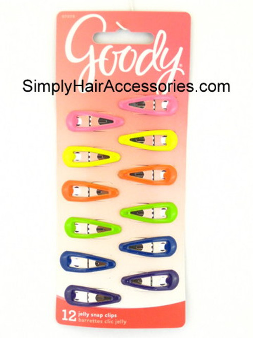 Goody Girls Assorted Snap Clips - 12 Pcs.