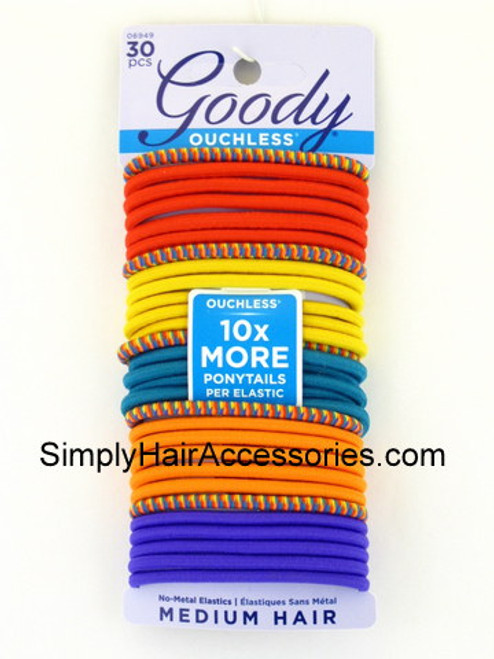 """Goody Ouchless """"Festival Primary"""" Elastics - 30 Pcs."""