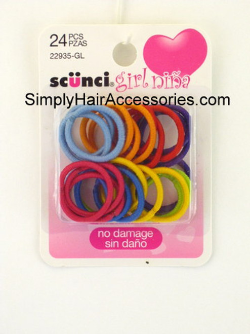 Scunci Girl No Damage Hair Elastics - 24 Pcs.