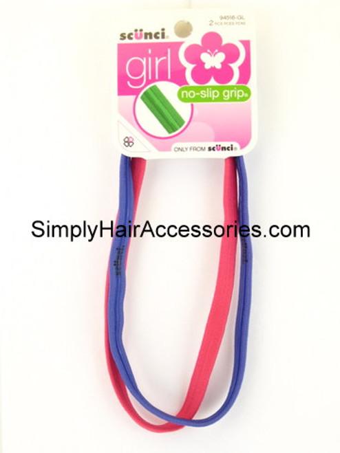 Scunci Girl No Slip Grip Head Bands - 2 Pcs.