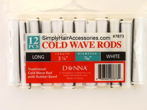 """Donna 7/16"""" Long Cold Wave Rods - 12 Pcs."""