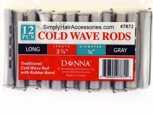 """Donna 3/8"""" Long Cold Wave Rods - 12 Pcs."""