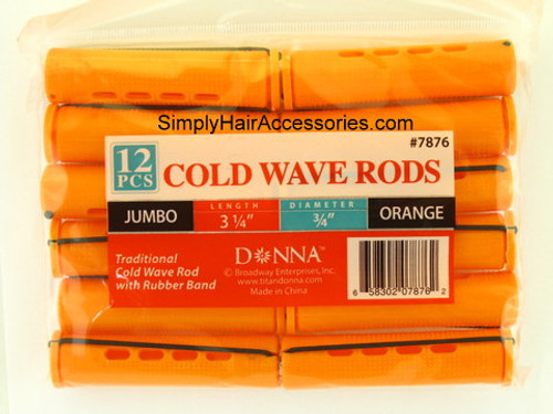 """Donna 3/4"""" Jumbo Cold Wave Rods - 12 Pcs."""