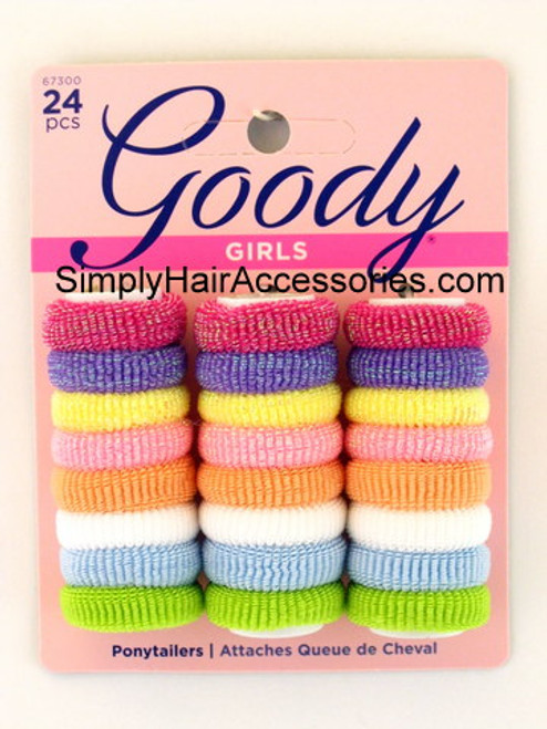 Goody Ouchless Girls Terry Ponytailers - 24 Pcs.