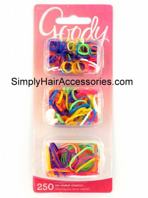 Goody Girls Multisize Polyband Hair Elastics - 250 Pcs.