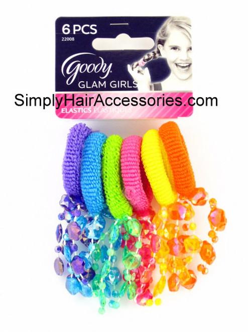 Goody Glam Girls Firecracker Ponytailers - 6 Pcs.